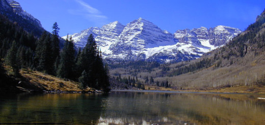 Landscape image of Colorado Rockies representing an allegorical Revenue Mountain